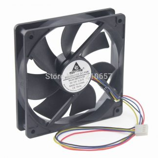 1PCS Gdstime Hydraulic 120mm x 25mm 12cm PWM PG Computer Case Cooling Fan 4 Pin Cooler