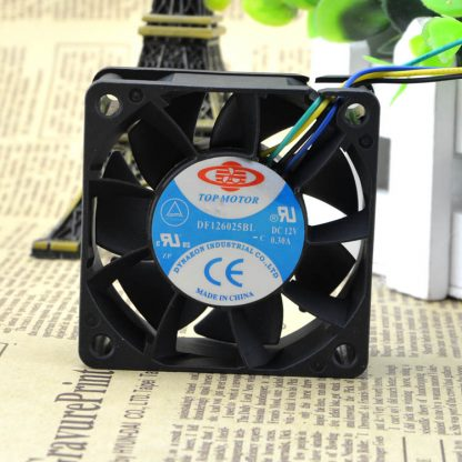 Free Delivery. 6025 6 cm 12 where v0. 80 a double ball violence DF126025BU four-wire PWM control speed fan