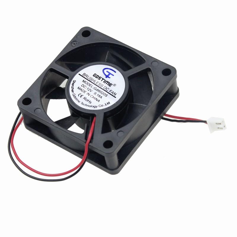 10 Pcs 12V 6cm 60mm x 20mm 60x60x20mm 2pin PC CPU Computer Case Cooling Fan