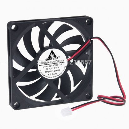 30Pcs lot Gdstime Brushless Axial Industrial Flow Cooling Fan 80mm x 10mm 8010S DC 12V 2Pin