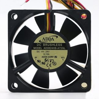 Original ADDA AD0624HB-A72GL 6025 24V 0.15A 6CM 3-lines inverter server cooling fan