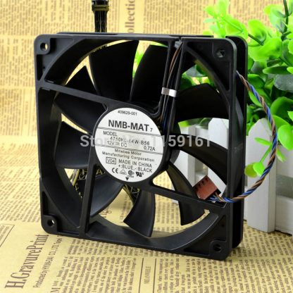 Free shiiping NMB 12cm 12V 0.72A 4710KL-04W-B56 line isothermia pwm cooling fan 125