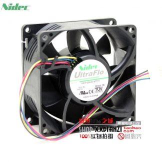 NIDEC H80E12BUA7-07T11 8038 fan 12V 1.60A C2100 winds