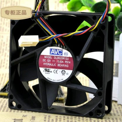 AVC DL08025R12U 12V 0.5A PWM Hydraulic Bearing cooling fan