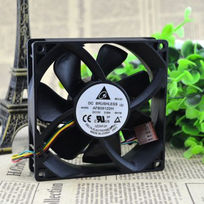 Free Delivery. AFB0912DH 12 v 2.5 A 9025 9 cm ball four-wire PWM fan violence
