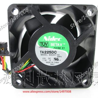 original For Nidec U12E12MS4A3-57 J232 12V 0.17A waterproof silent cooling fan