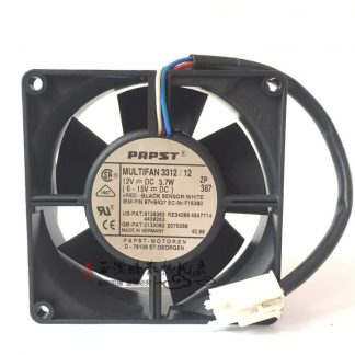 Original PAPST MULTIFAN3312 / 12 12V3.7W 9CM 9032 90 * 90 * 32MM 3-wire double ball cooling fan