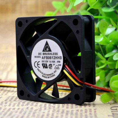 Free Shipping wholesale Delta 12v 0.18a AFB0612HHB axial case cooler Cooling fan 6015 60x60x15mm 6cm 60mm