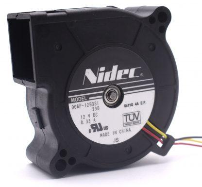 Nidec Original D06F-12B3S1 Double Ball Bearing 6025 60*60*25mm Computer Laptop Blower Cooling Fan DC 12V 0.33A 3.96W