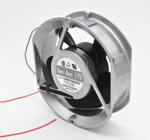 SANYO 109E5724H503 Aluminum frame Double ball fan DC24V 0.58A 172*150*51MM 2pin