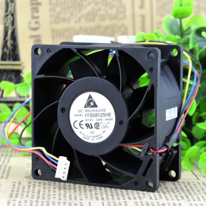 Free Delivery. 8038 8 cm 12 where v0. 87 a double ball FFB0812SHE four-wire PWM control fan
