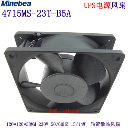 NMB-MAT 4715MS-23W-B5A D00 Server Square Cooling Fan AC 230V 60Hz 120x120x38mm 2-Pin
