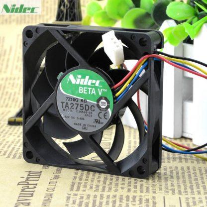 Original Nidec TA275DC C35598-35 GFOX 7cm 7015 12V 0.48A four-wire pwm axial fan