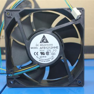 New original AFB1212HHE 12cm 12V 0.70A double ball four-wire PWM cooling fan