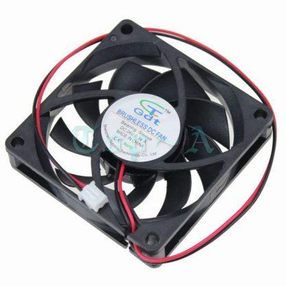 Gdstime 200 pcs 2Pin 7cm Computer Case PC Fan 70mm x 15mm 7015 DC Brushless Cooling Fan 24V CPU Cooler 12cm Black 70x70x15mm