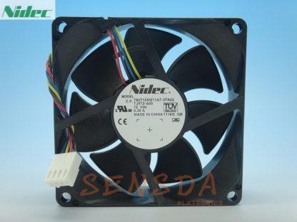 NIDEC T80T12MS11A7-07A02 8025 PWM 4P 0.35A 8cm four-wire PWM server inverter cpu cooling fan