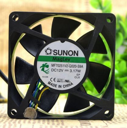 SUNON MF70251V2-Q0-S9A DC 12V 3.17W 7025 70*70*25MM 7cm 4-wire Chassis Cooling Fan