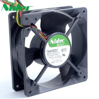 Nidec TA450DC B34262-34 12V 0.8A 138 12cm large air flow cooling fan 1*1*38mm