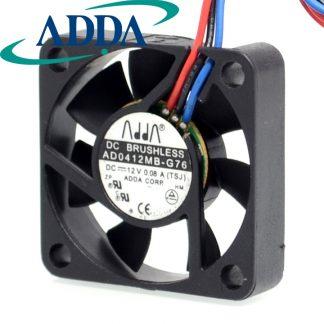 2pcs AD0412MB-G76 4010 4cm 40mm DC12V 0.08A ultra silent fan uble ball bearing