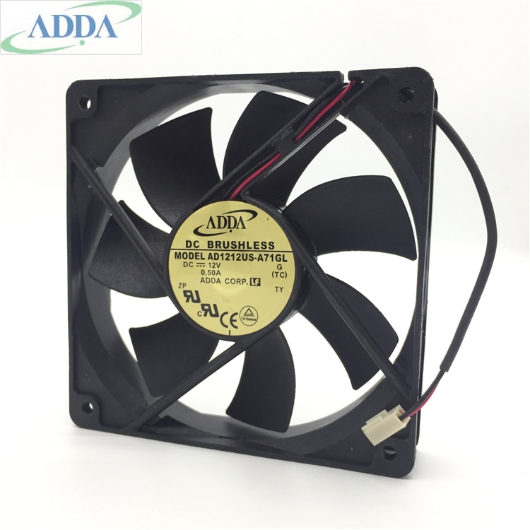 ADDA AD1212US-A71GL DC12V 0.50A  2-wire cooling fan