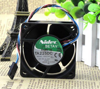 Nidec TA225DC B35198-35 60*60*25 12V 0.14A PWM control 4 line chassis fan