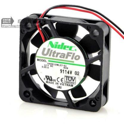Original NIDEC 4010 12V 0.05A U40X12MLZ7-51 40x40x10mm fan hole distance 3.2CM cooling fan