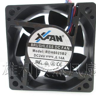 Free Delivery.RDH6025B2 24V 0.14A 6CM 6025 3-wire inverter cooling fan
