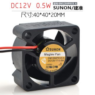 Sunon GM1204PKV3-A DC 12V 0.5W 3Wire server inverter axial Cooling Fans