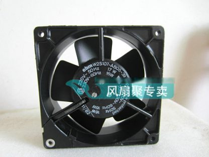 Original ebm PAPST W2S107-AB05-39 12cm 12038 220V AC cooling fan Full Metal