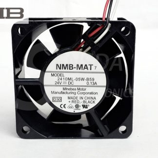 NMB 2410ML-05W-B59 DC 24V 0.13A 6025 60x60x25mm 6cm 60mm server inverter axial cooler blower cooling fans