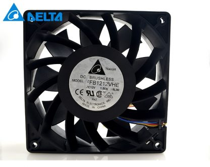 Delta orginal FFB1212VHE 4 Wires DC 12V 1.5A 138 1*1*38mm Cooler Double Ball Cooling Fans for wholesale