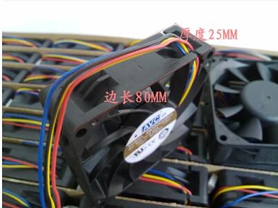 Wholesale: AVC 80*80*25 8CM 12V 0.54A DBTA0825B2U 4lines PWM intelligent speed control of large air fan