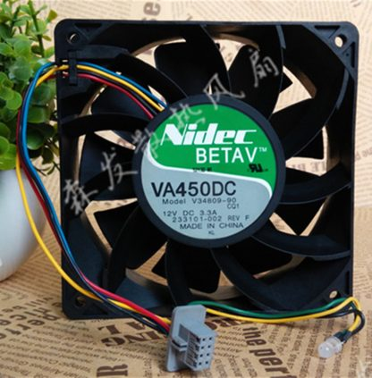 Original Nidec V34809-90 12cm 138 12V 3.3A violence server industrial cooling fan