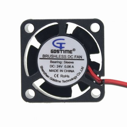 200 Pcs Gdstime High Air Flow 25mm DC Fan 24V 2.5cm 25x25x10mm 2510 Centrifugal Silent Cooling Fan 24 Volt Mini Cooler wholesale