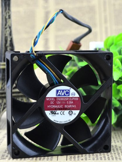 SSEA New cooling fan for AVC 8025 12V 0.35A DS08025R12UP059 PWM FAN 80*80*25mm DC12V 0.60A 4 pin