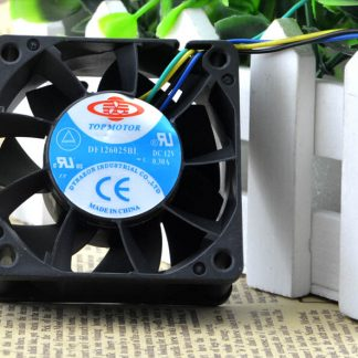Wholesale: 60*60*25 6CM 12V0.80A is a long double ball violence PWM four line DF126025BU fan speed control