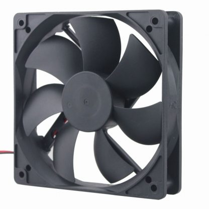 10 Pieces Gdstime 1x1x25mm 125 0.3A Dual Ball Bearing 2Pin 12V 12cm DC Brushless Industrial Cooler PC Cooling Fan 1mm