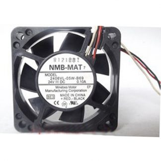For NMB 2406VL-05W-B69 cooling fan 3pin for FANUC A90L-0001-0552 24V 0.10A 6cm