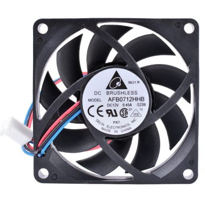 AFB0712HHB DELTA 70mm fan 7015 70x70x15mm 12V 0.45A 3-pin double ball bearing large air volume cooling fan