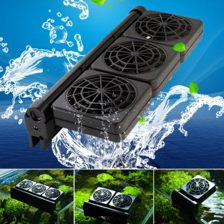 1/2/3/4 Fans Aquarium Chiller Cooling Fan Fish Tank Cold Wind Chiller Temperature Control 2 Adjustable Level Wind 100-240V