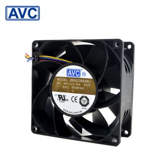 AVC 92*92*38 2B09238B48U 9238 48V 0.7A 4-wire radiator fan with Terminal converter