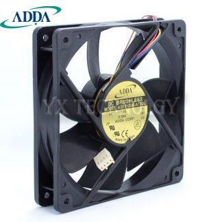 ADDA 120x120x25mm 12 cm AD1212UB-A73GL ball bearing four-wire intelligent temperature control fan for PWM fan 12025 for