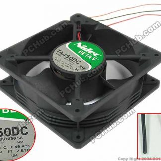Nidec TA350DC TA450DC B31256-56 Server Square Fan DC 12V 0.49A 120x120x38mm 3-wire