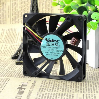 The original Nidec D08R-12TH 01A 12V 0.17A 8CM 80*80*15 three lines radiating fan