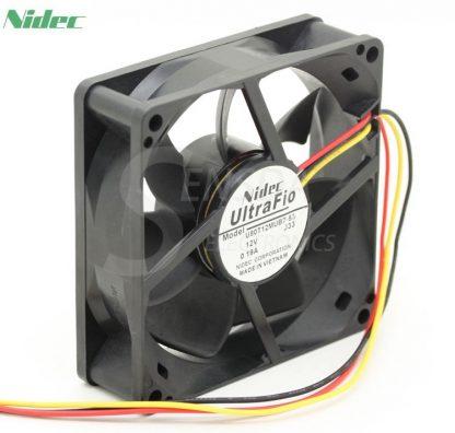 NIDEC U80T12MUB7-53 8025 8cm 80mm DC 12V 0.19A server inverter axial cooling fans