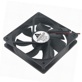 10 Pcs Gdstime 2 Wires 12V 5 inches 1mm x 25mm 12cm DC Brushless Industrial Cooler Cooling Fan 1x1x25mm Without Connector