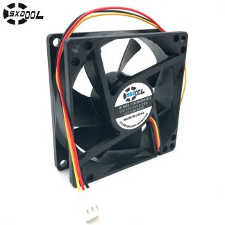 computer cooling fan 80mm 12V SXDOOL SXD8025S12M 80*80*25mm DC Brushless cooler 0.25A(rated 0.35A) 3P server inverter PC case