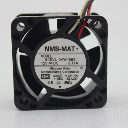 For NMB 1608VL-04W-B69 40*40*mm 12VDC 0.17A 3pin cooling fan