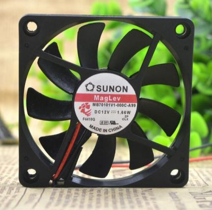 SUNON 7CM MB70101V1-000C-A99 DC 12V 1.66W 7010 70*70*10MM 2-wire cooling fan