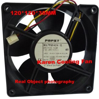 EBM Papst 12cm 12038 24V 4.3W Multifan 4214 3Wire Cooling Fan